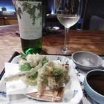 琢磨 - 天ぷらと白ボトル