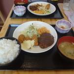 あらたま - コンビかきフライ定食