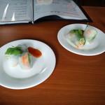 Thai food club BACCARA - お通し(?)の生春巻き