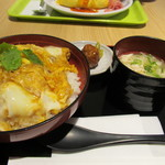 鶏三和 - 鶏かつ丼 鶏そばセット