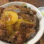 だてそば - 半々定食1050円の小さいカツ丼   2017/4/15