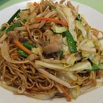 菜香園 - 料理写真:豚モツ入り醤油味焼きそば
