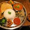 ダルバート食堂 - 料理写真:カレー2種類盛り & 砂肝のスパイスマリネ