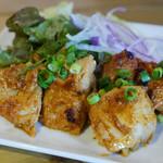 肉と日本酒 jogo~上戸~ 銀座店 - 鶏もも肉の酒粕辛味噌付けグリル