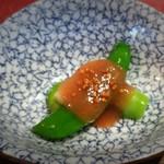 65603856 - 春野菜、梅のソースかけ