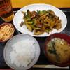 和食とよま - 料理写真:肉なすピーマン炒め定食(カレー味)¥800-