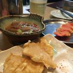 酒の奥田 - どて焼きと春の筍天ぷら  どれも260
