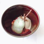 リストランテ・ジャニコロ・ジョウキ - パスタランチ ドルチェ 苺のソースとバニラアイス