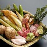 かやぶきの郷薬師温泉旅籠 - 料理写真:籠盛