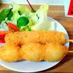Takoyaki Dining Katsu!! - 豚串¥120&うずら串¥120