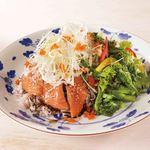 さかい珈琲 - 料理写真:サーモンと菜の花のサラダごはん