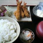 味いちもんめ - 料理写真:海老フライ定食