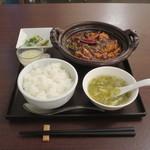 過門香 - 重慶式麻婆豆腐セット(激辛)