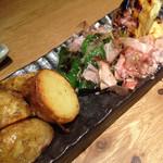 炭火原始焼と蔵元焼酎の店 のどぐろの中俣 - 季節野菜の炭火焼き 2名分