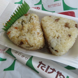 たけや - 料理写真:味ご飯と茸 110円×2