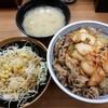 丼太郎 - 料理写真:【2017/4】キムチ牛丼+サラダ