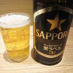 うどん居酒屋 武蔵野 はせがわ - 瓶ビール