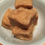 壌 - 揚げ豆腐の旨煮。