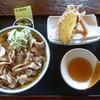 そば処東亭 - 料理写真:げそ天肉そば880円
