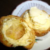 オーブン・ミトン - 料理写真:シュークリームはね、フタですくって食べるんだ♪