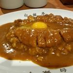 カレー専門店 白銀亭  - とんかつカレー+生玉子 2017.4