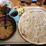 65844573 - 稲庭うどん 七蔵特製スープつけ麺 + ミニ丼ぶりのセット