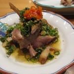 とりやき八 - 新鮮な鶏肉料理が続きます、ポン酢を使った鶏肉料理もバリウマ。