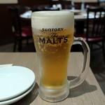 本格中国料理 華中苑 - 生ビール