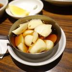 万両 - 料理写真:焼きニンニク