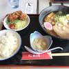 ふれあいパーク三里浜 地元特産品飲食コーナー - 料理写真:らっきょうラーメン定食。