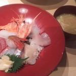 どすこい四文屋 - 海鮮丼 1000円