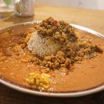 SOMA - 料理写真:チキンキーマ+トマトカレー+お肉のカレー