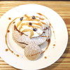 T's cafe-note - 料理写真:生地にほろ苦いコーヒ―豆を練り込み、クッキー風味のシロップをお好みで!
