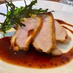 レストラン エスカリエ - 豚ロースのピカタ   マスタードソース   とっても甘い豚さんです(^O^)