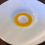 レストラン エスカリエ - 人参スープ   これも秀逸!!    自然を感じる甘さです❤