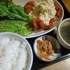 麺 平蔵 - 料理写真:チキン南蛮定食。わかめスープなどが付いて890円也。