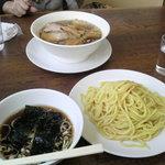 つけそばのさんぷく - つけ麺(大)、チャーシュウ麺
