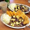 カレーの市民アルバ - 料理写真:フルアームズ(さらにナス2倍)とナスカレー(キリッとナス3倍)