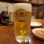 上海楼 - 生ビール(小)(400円)