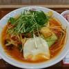 トマトの花 - 料理写真:野菜たっぷりトマトスープ麺+大盛り+モッツァレラチーズ+ベーコンチーズリゾット