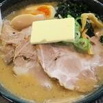 北海道らーめん 壱龍 - 味噌チャーシュー麺990円+バター100円+味玉100円