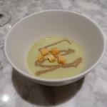 フレンチ串揚げ BEIGNET - そら豆のスープ モリーユのクーリ