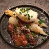 アニオン - 料理写真:ホワイトアスパラ 玉子、ホタルイカとアンチョビのソース(1人前)