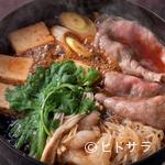いし橋 - 最初の肉から〆の『おじや』まで仲居さんが付きっきりで調理