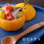 """いし橋 - 魚と野菜料理のお通しは""""引き算""""された味付け"""