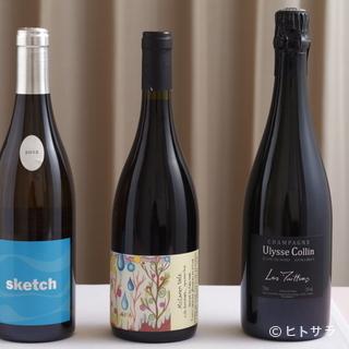 ワインのセレクトは、あくまで「料理に寄り添う存在」