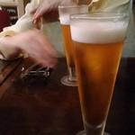 トラットリア&カフェ プリモ - 生ビール~一口飲んだ後