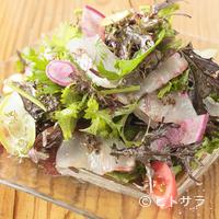 タケル クインディチ - 魚介も野菜も鮮度抜群な『本日の地魚のカルパッチョ サラダ仕立て』