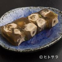 麦酒庵 - 旨味成分を凝縮させた、オリジナルの『牡蠣の煮こごり』