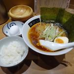日本橋 鳥久 - 勝浦タンタンメン+ごはん・雑炊たまご